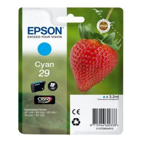 Original Ink Cartridge Epson C13T298240 Cyan-Epson-Clauven.com