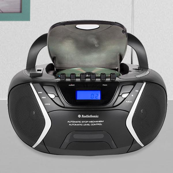 AudioSonic CD1596 MP3 USB CD Radio-Cassette Player