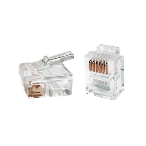 RJ11 Connector iggual IGG312117 50 pcs-iggual-Clauven.com