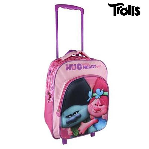 3D School Bag with Wheels Trolls 361