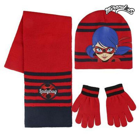 Hat, Scarf and Gloves Lady Bug 189
