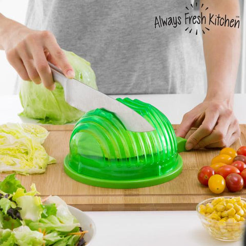Quick Salad Maker Bowl for Washing and Cutting Salad