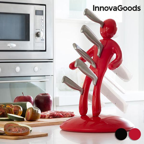 InnovaGoods Voodoo Knife Block Set (6 Pieces)
