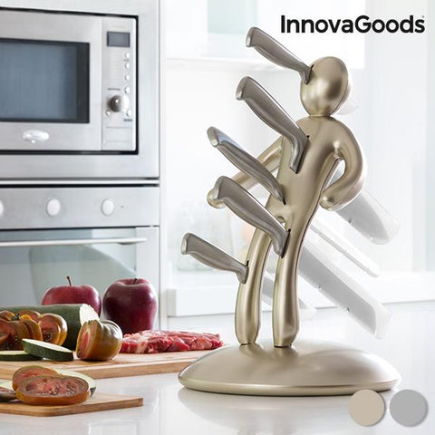 InnovaGoods Premium Voodoo Knife Block Set (6 Pieces)