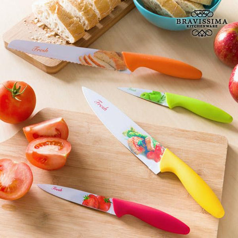 Bravissima Kitchen Fresh Ceramic Knives (set of 4)-Bravissima Kitchen-Clauven.com