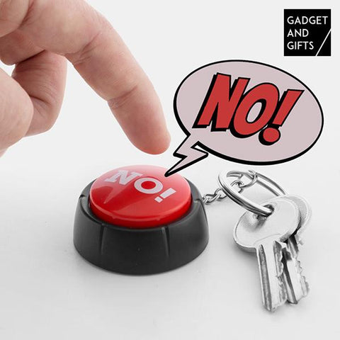 Button Keyring with NO! Sound Gadget and Gifts