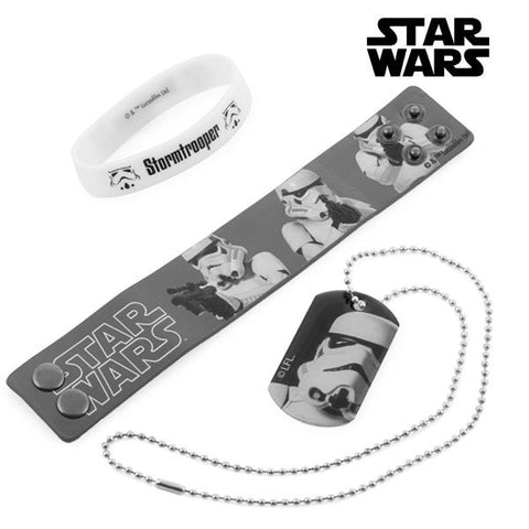 Stormtrooper Bracelets and Necklace (Star Wars) - Clauven.com