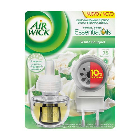 Air Wick White Bouquet Electric Air Freshener and Refill