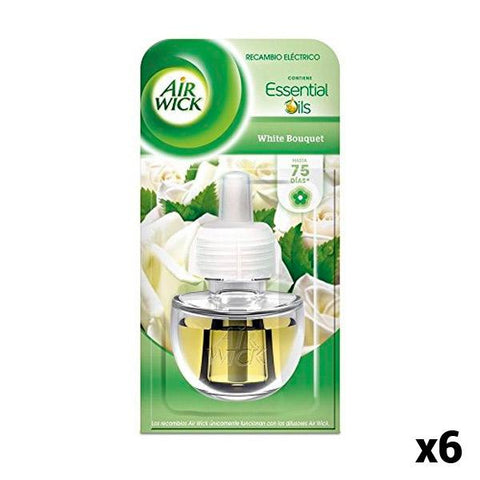 Air Wick White Bouquet Air Freshener Refills (Pack of 6)