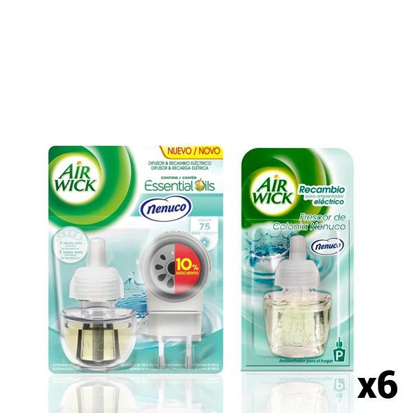 Air Wick Nenuco Electric Air Freshener Pack + 6 Refills