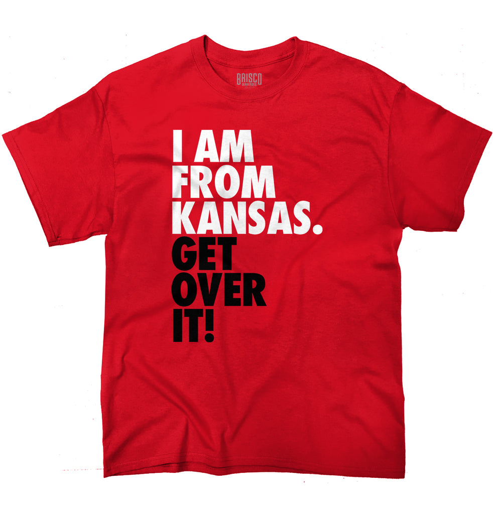 "Kansas State T Shirt Cool ""Get Over It"" Trendy Funny Quote T-Shirt Tee"