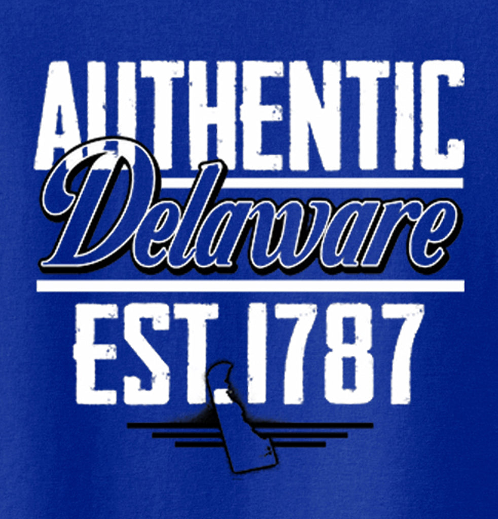 Delaware State - Map Printed Missy Fit T-Shirt