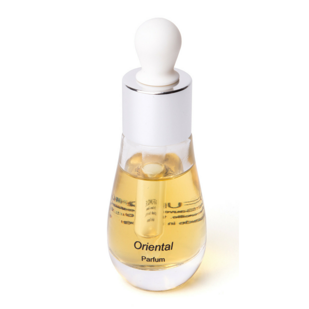 Perfume Oriental in its stylish bottle with dropper by Parfumique