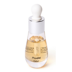 Perfume Poudré in its stylish bottle with dropper by Parfumique
