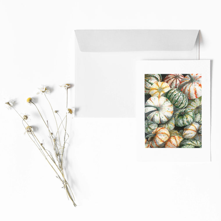THE PUMPKIN BIN Botanical Note Card