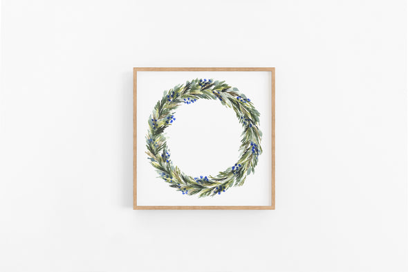Pine Branch Winter Wreath : A Thrill of Hope