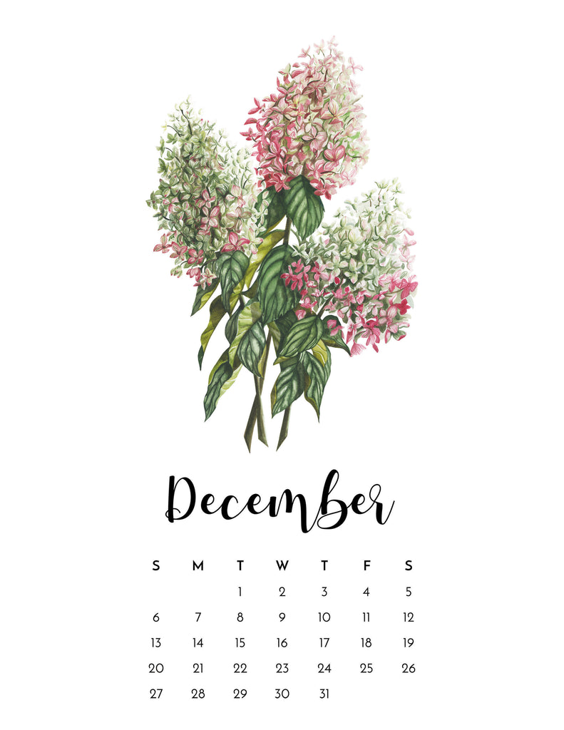 MINI 2020 Botanical Calendar