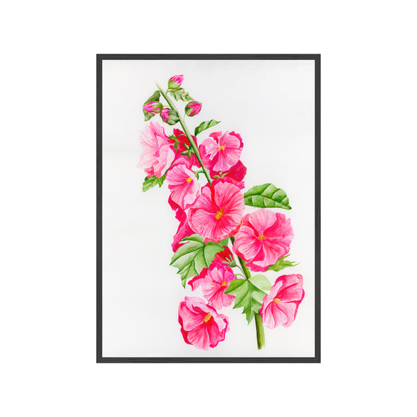 HOLLYHOCK Fine Art Watercolor Print