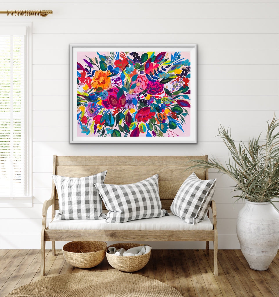 Large Floral Folk Art