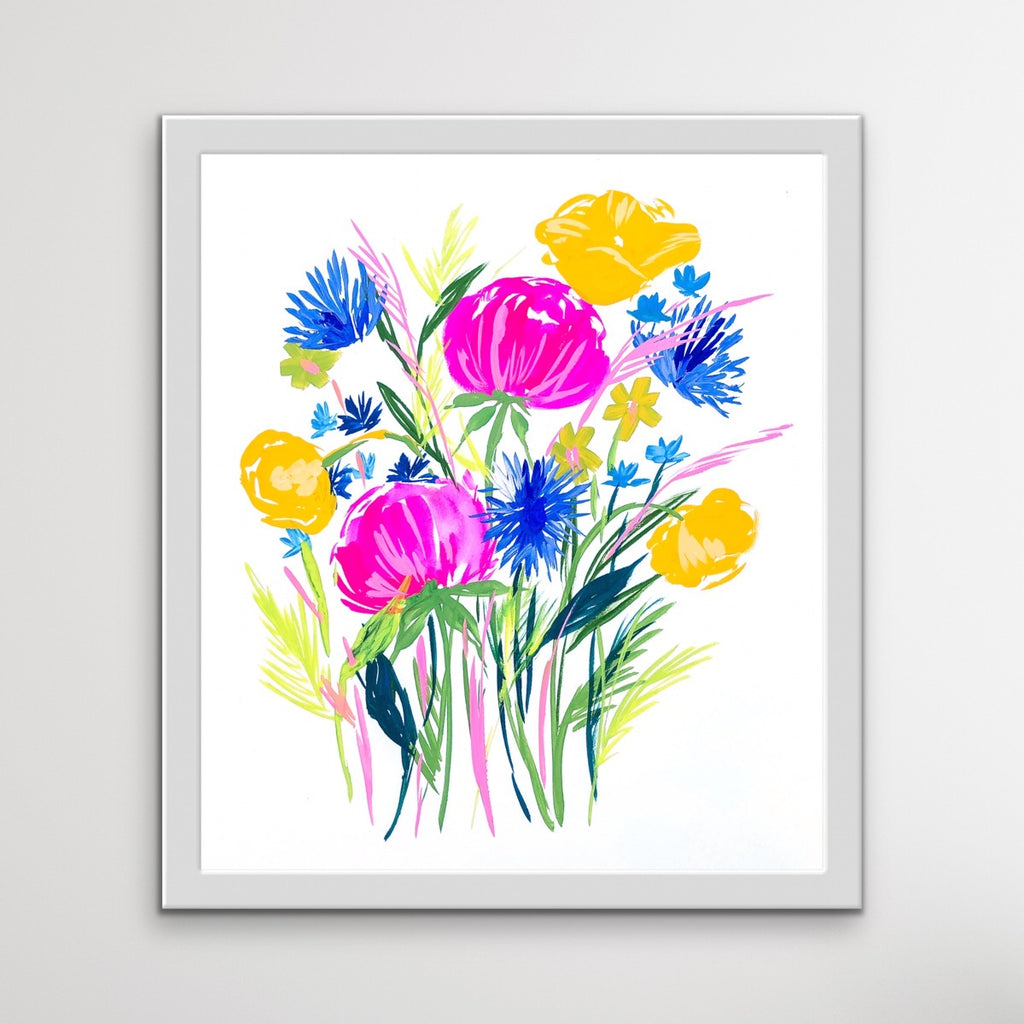 Light and Easy Does It Watercolor Bouquet