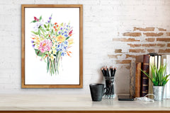 Wildflower Watercolor Bouquet