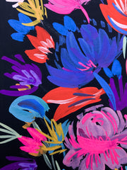 Black and Pink: Gouache Florals