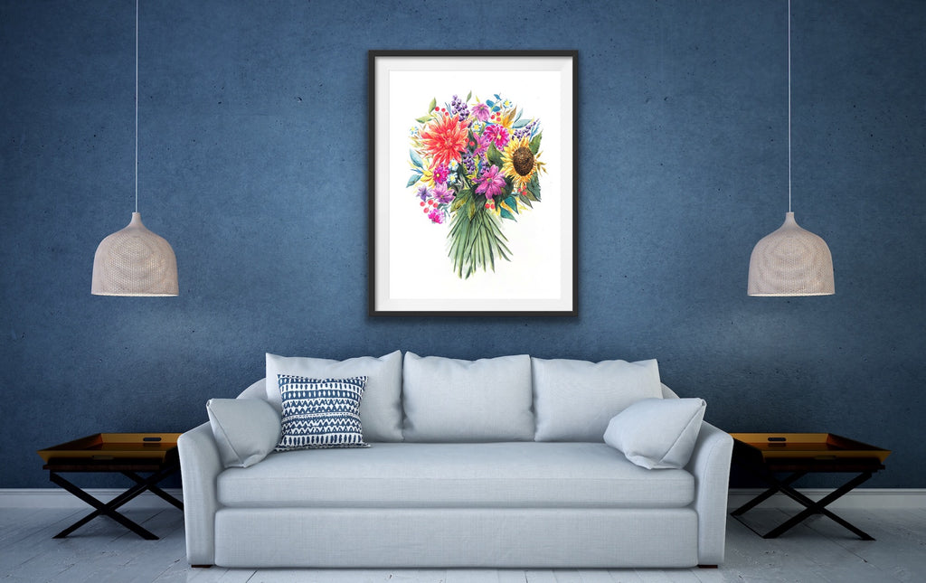 Custom Wedding Bouquet Watercolor Painting