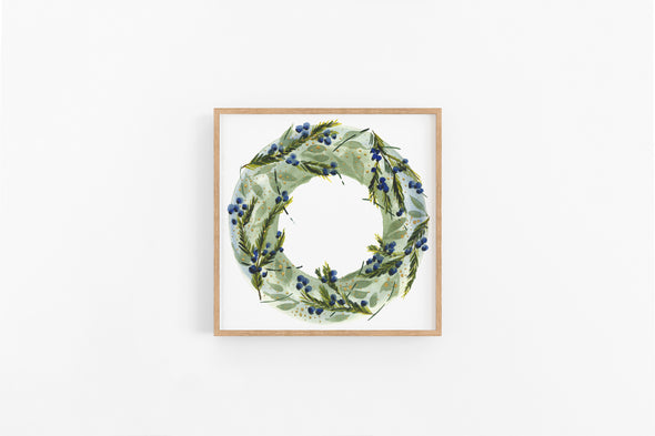 Juniper Branches Winter Wreath : A Thrill of Hope