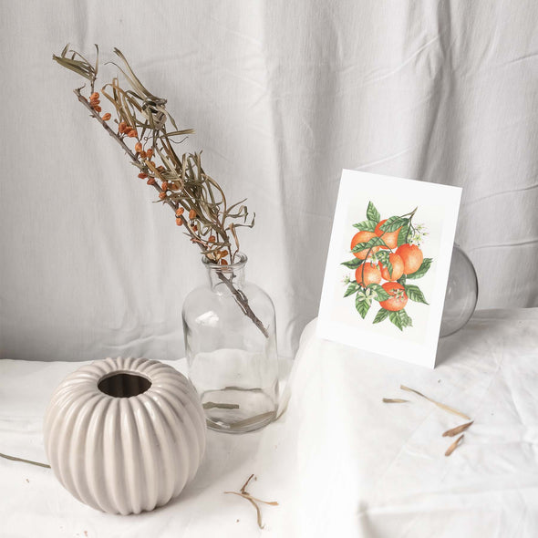 ORANGE BRANCH Botanical Note Card