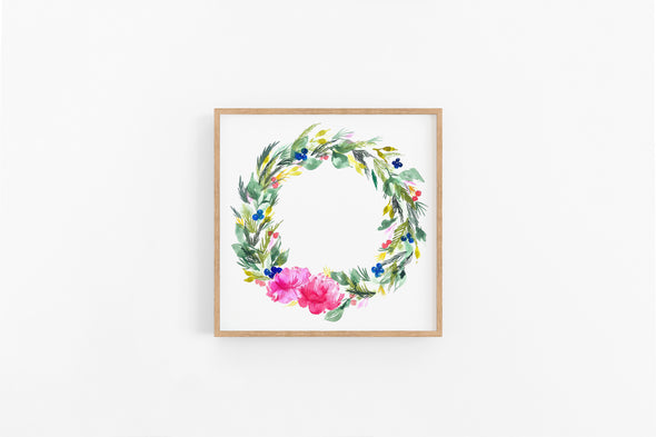 Peony Winter Wreath : A Thrill of Hope