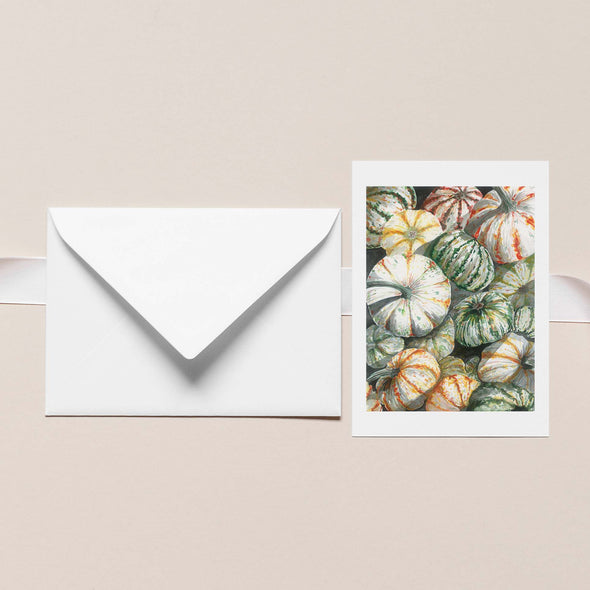PUMPKIN BIN Botanical Note Card