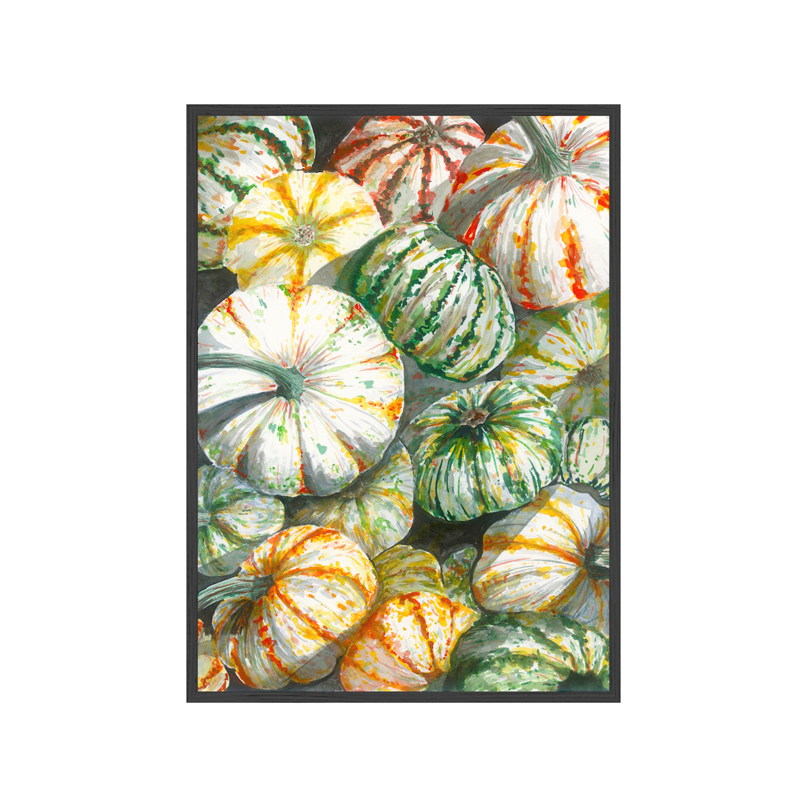 PUMPKIN BIN Fine Art Watercolor Print