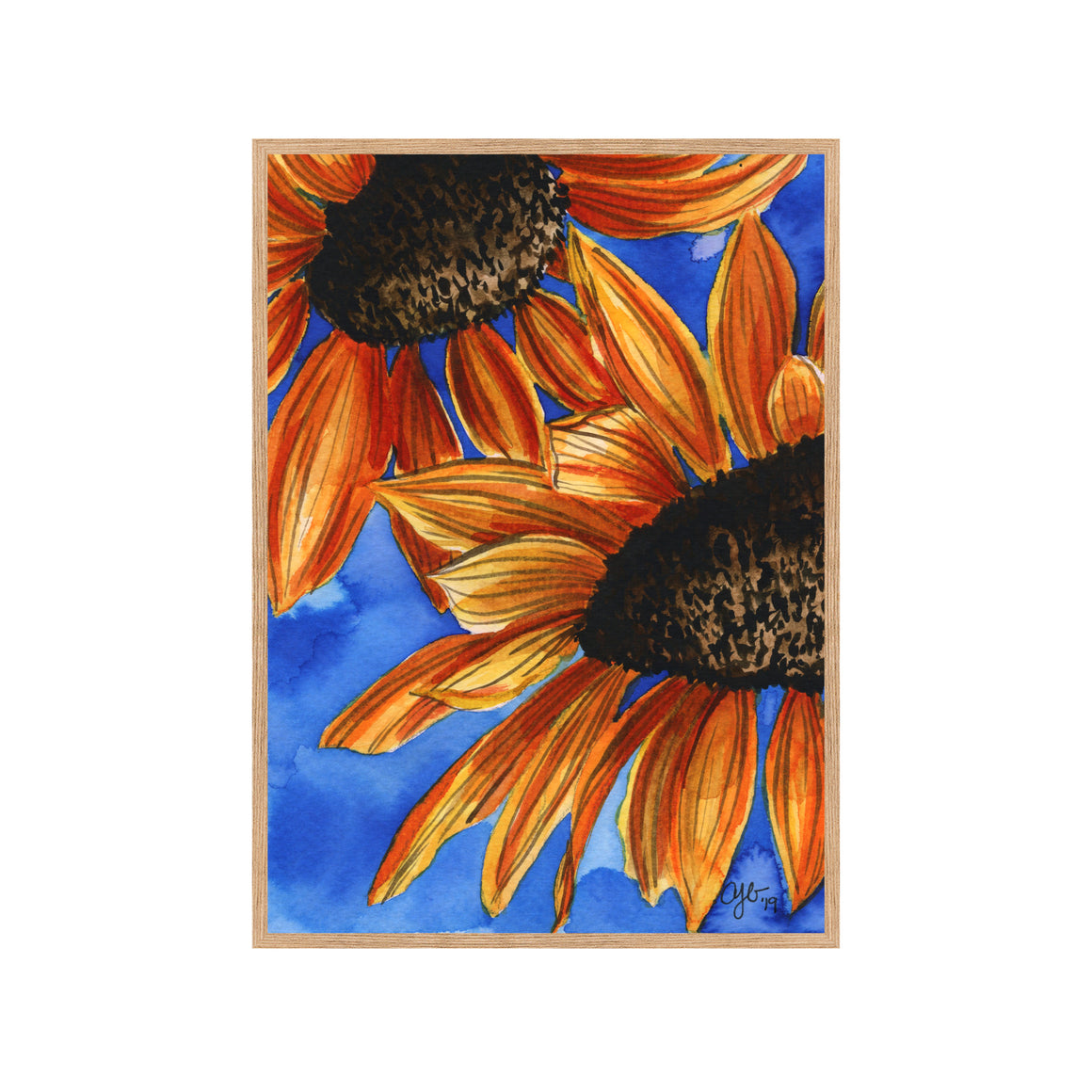 SUNFLOWERS Fine Art Watercolor Print