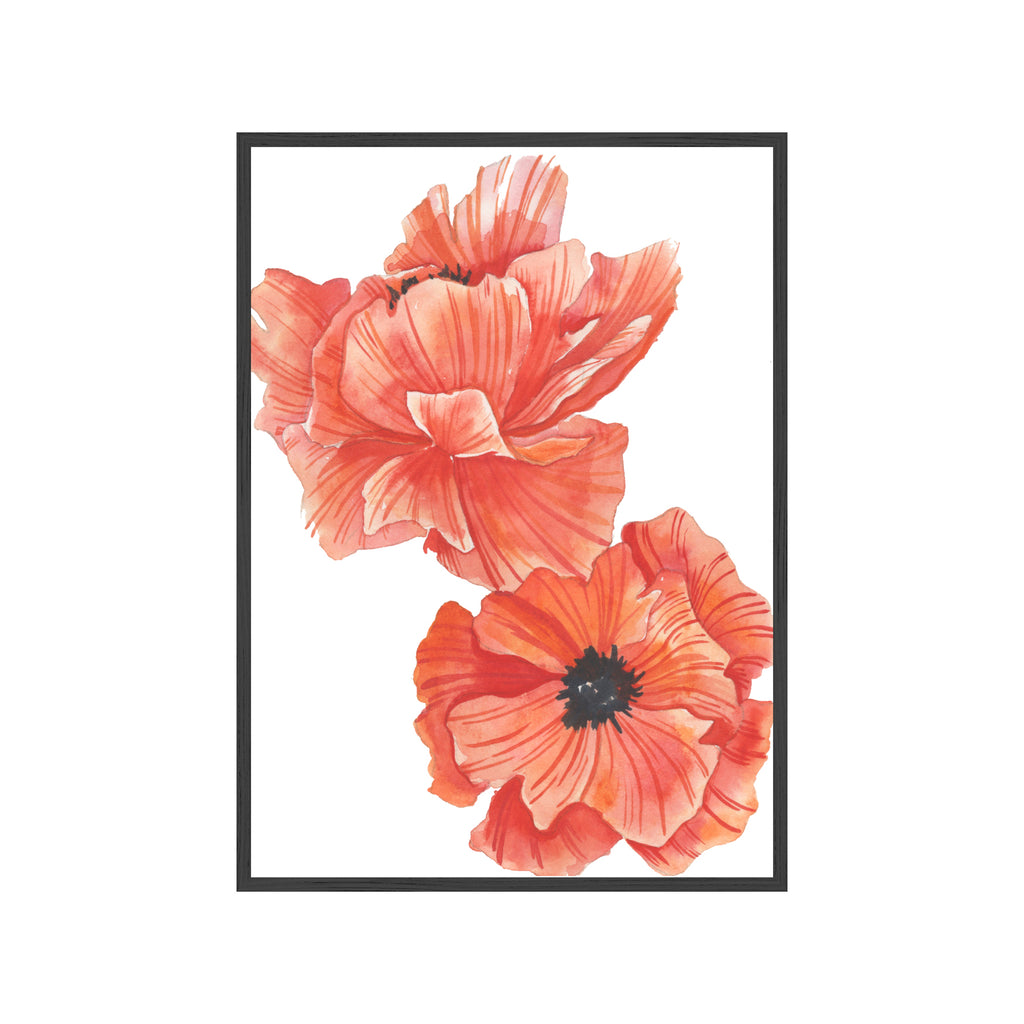 RED POPPIES Fine Art Watercolor Print (Small)