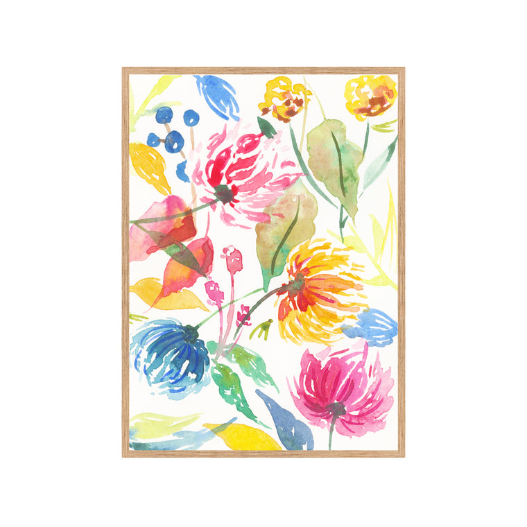 ABSTRACT WILDFLOWERS Fine Art Watercolor Print