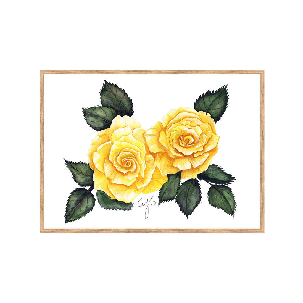 YELLOW ROSES Fine Art Watercolor Print