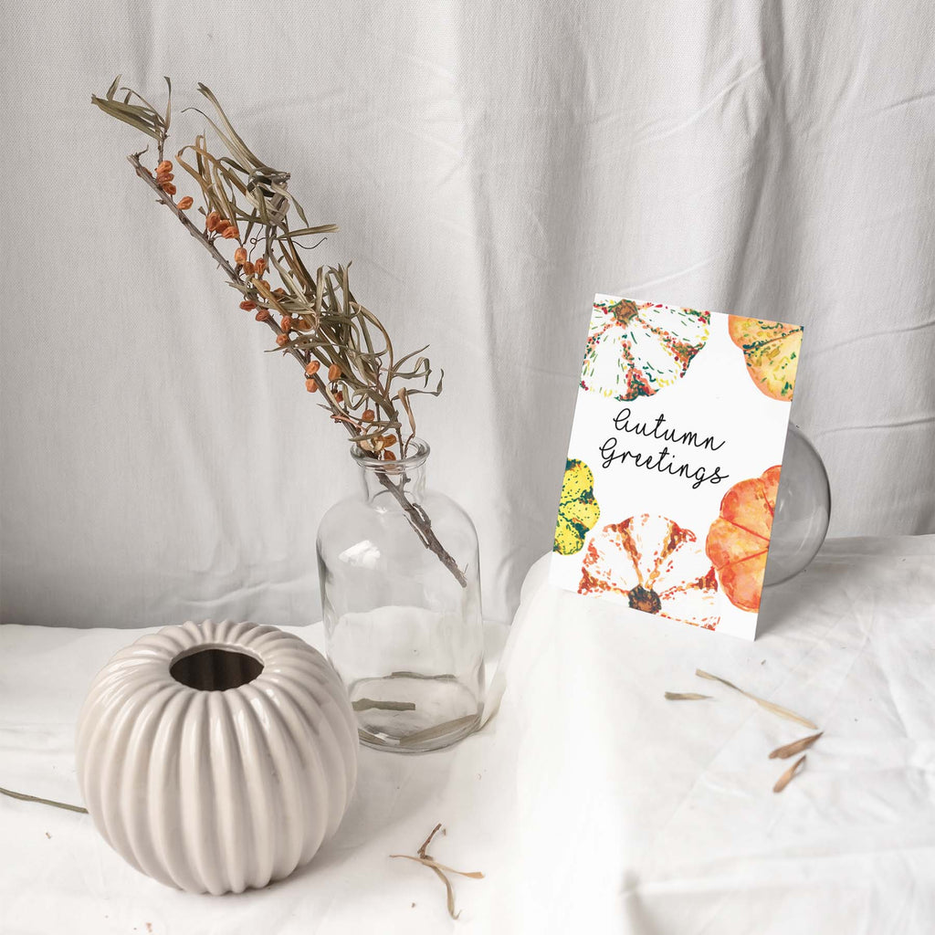 AUTUMN GREETINGS Botanical Note Card