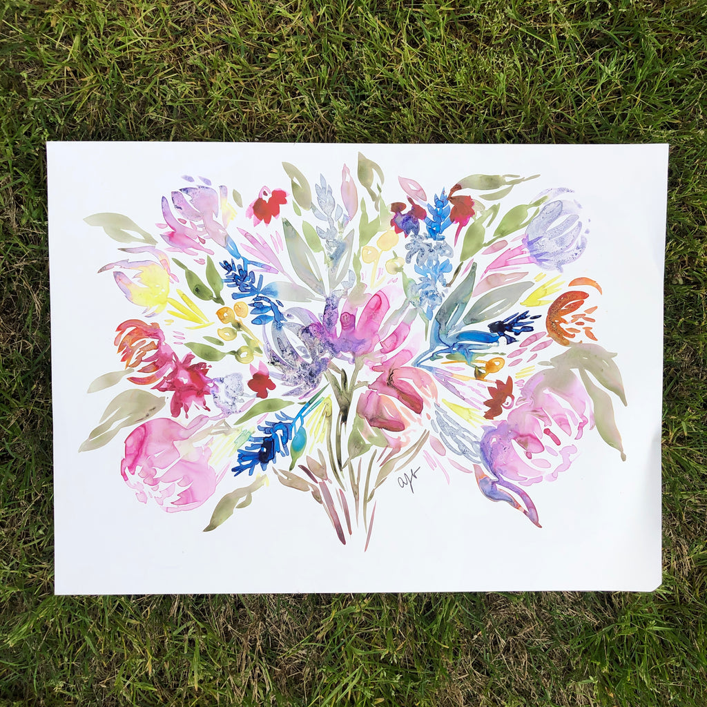Watercolor Florals on Yupo Paper