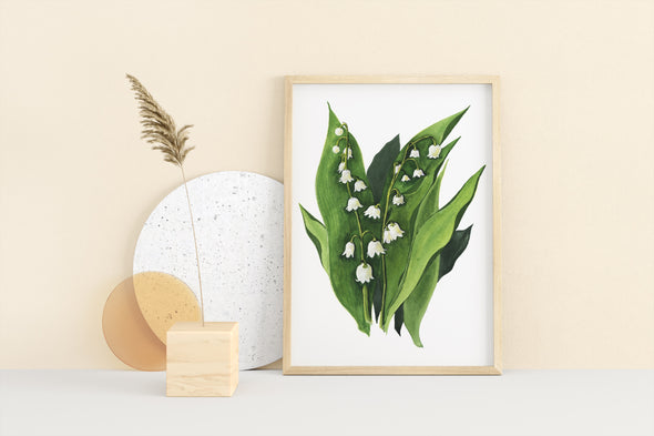 MAY: LILY OF THE VALLEY {FINE ART PRINT}
