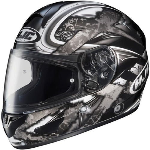 HJC CL-16 Shock MC5 Motorcycle Helmet - Black and Gray, Medium or Extra Large