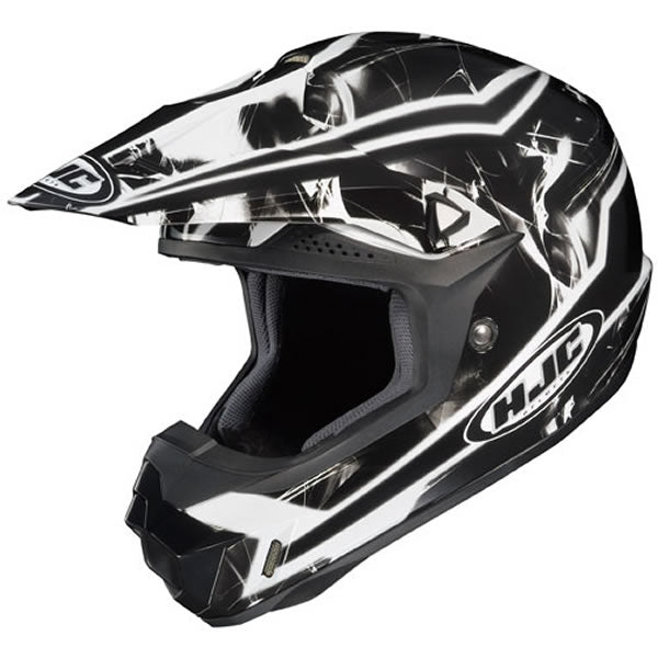 HJC CLX-6 Motorcycle Helmet, Black and Gray, Small