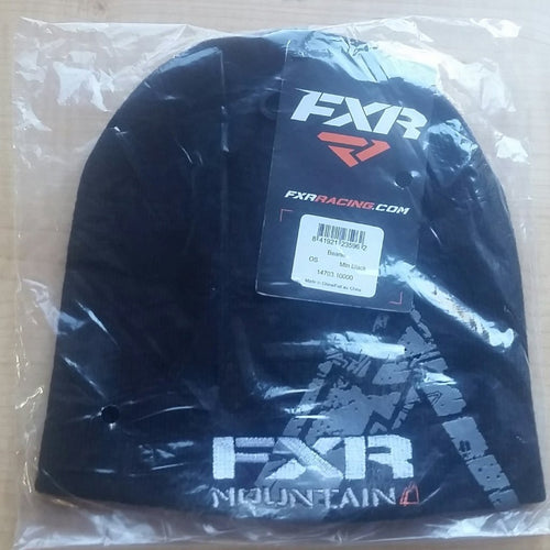 FXR Mountain Men's Black Beanie – Snowmobile, Winter, Hat, Cap, Black, New, Sale,
