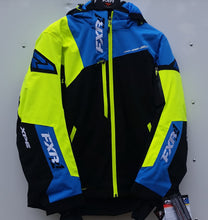 FXR RENEGADE X SNOWMOBILE JACKET – BLACK / BLUE / YELLOW, LARGE, LG