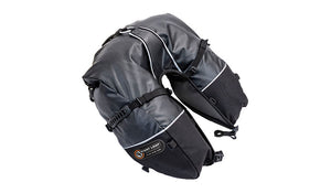 Giant Loop Coyote Saddlebag Roll Top Motorcycle Saddlebags - Black