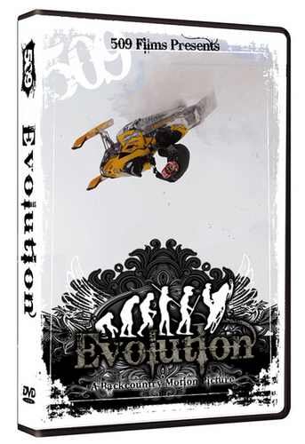 509 Films Evolution DVD, Extreme Back country Snowmobiling Movie, 2008