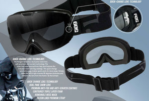 New 509 Kingpin Snow Goggles - Black Ops Edition With Polarized Smoke Lens