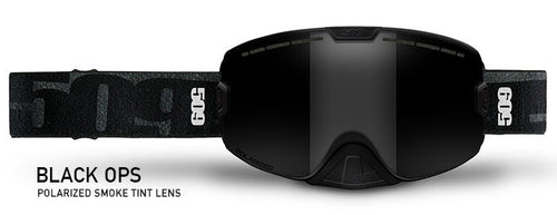 509 Kingpin Snow Goggles - Black Ops Edition With Polarized Smoke Lens