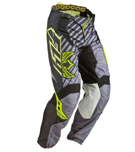 FLY RACING KINETIC RS  MOTORCYCLE PANTS - BLACK / GREY / YELLOW SIZE 36