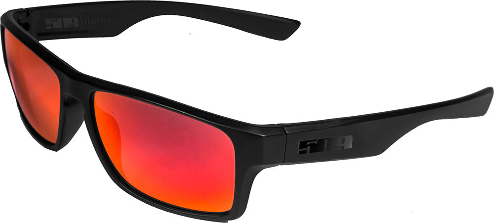 509 Eclipse Polarized Sunglasses - Black with Polarized Fire Mirror Lenses