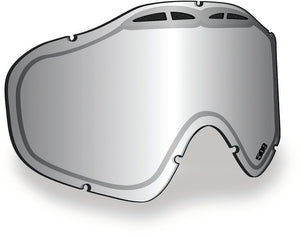 509 Sinister X5 Replacement Goggle Lens - Chrome Mirror with Clear Tint Lenses for 509 X-5 Goggles